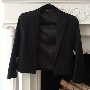 Black Theory Cropped Open Front Sleek Blazer Sz. 4